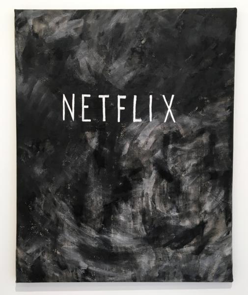 Netflix 2016 Acrylic on raw canvas